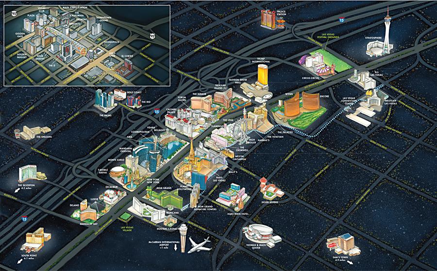 NFR Las Vegas Maps